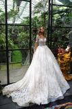 Амели скалистых чисто длинной втулки кружева вышитого тюля свадебные платья в цветов