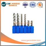 3 flautas carboneto de tungsténio de alumínio Moinho Final