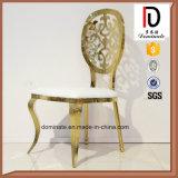 Сильная нержавеющая сталь золота задней части картины качества обедая стул