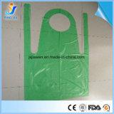 FDA Ce утвердил Custom дешевые HDPE одноразовый PE кухня пластиковый защитный фартук