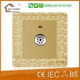 Toque de pared estándar británico BS interruptor de retardo de tiempo Contacto