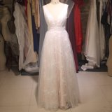 Vestido completo Ld1151 dos vestidos de noite do baile de finalistas de Tulle do laço do vestido de cocktail do partido