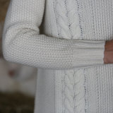 Damenturtleneck-Strickjacke-lange Art