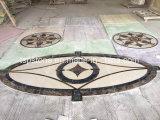 金属の象眼細工の装飾デザインの石造りの床タイルのためのカスタマイズされた花こう岩の石のWaterjetモザイク模様かモザイクボーダーまたは円形浮彫り