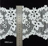 Acessórios florais elegantes Offwhite L002 da tela da guarnição do fato do aparamento do laço