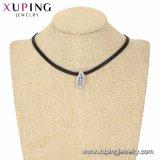 44358 Xuping新しい項目方法チョークバルブのネックレスの宝石類、葉形の女性のネックレス