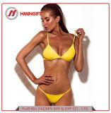 Bikini-Strand-Badeanzug der heißen verkaufenden Normallack-reizvolle Badebekleidungs-Mehrfarbenbrücke-aufgeteilten Frauen