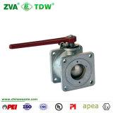 Vávula de bola de la descarga de la conexión del borde de la alta calidad con el borde cuadrado (TDW-BVA)