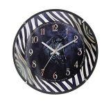 Châssis de bande et cadran noir Horloge murale à quartz
