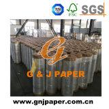 Bon prix enduit d'aluminium en relief du rouleau de papier d'enrubannage