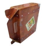 Kundenspezifischer Wellpappen-Kasten mit Griff-Großverkauf