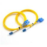 Optisch Sc Upc van de vezel aan Koord van het Flard van de Vezel van LC Upc het Duplex Optische