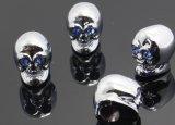 Кристаллический металл крышек клапана автошины автомобиля черепа с глазом СИД /Blue
