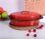 Cor Non-Stick Kitchenware pintado do Roaster do esmalte de Turquia com tampa