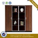 Ficheiro de madeira de vidro da biblioteca do armazenamento da biblioteca de Alumnium da porta (UL-MFC204)