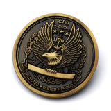 Venta caliente novedad souvenirs personalizados baratos de Metal antiguo rara moneda de oro Viejo concesionarios
