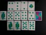 cartes de jeu noires de tisonnier de diamant de qualité de casino de papier de faisceau 310gms