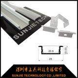 25X8mmはLEDの12mm SMD2835 LEDのストリップのためのアルミニウム放出のプロフィールを陽極酸化した