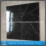 Китай дешевые полированным Серебряный дракон из черного мрамора на пол керамическая плитка
