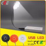 Lámparas innovadoras vendedoras calientes de la luz del ordenador del USB LED del sensor de la música del adminículo del regalo para la venta caliente de la lámpara de escritorio de la lámpara de vector de la lámpara LED del libro de los ordenadores LED LED
