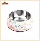Motif de l'os de la mélamine&Pet en acier inoxydable bol de nourriture pour chiens (KE0009)