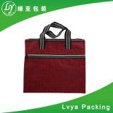 Kundenspezifischer Baumwollsegeltuchtote-Beutel mit Reißverschluss, Baumwolle sackt Förderung, Baumwollgewebe-Handtaschen-Beutel ein