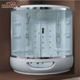 Populaire salle de douche à vapeur avec une baignoire de massage