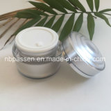 Cosmetic Packaging (PPC-NEW-148)のための50g Silver Acrylic Cream Jar