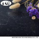 Черная искусственная мраморный верхняя часть таблицы камня кварца
