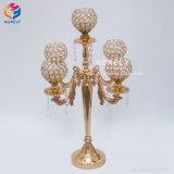 Pièces maîtresses en cristal acryliques de lustre de stand de fleur de bougeoir de noce