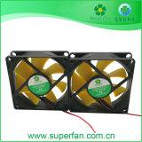 Ventilador Duplo, Twins Ventilador, UL com ventilador propulsor de amarelo