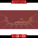 Disposizione della Tabella del Baccarat della disposizione della mazza del casinò del feltro di stampa di sublimazione di disegno della fabbrica con un colore rosso dei 8 giocatori (YM-BL100G)