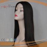 Peluca superior de seda de la tapa de la piel del pelo de la Virgen (PPG-l-0971)