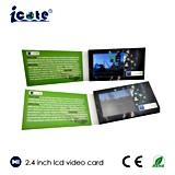 Folleto video de encargo del LCD de 2.4 pulgadas, tarjeta video