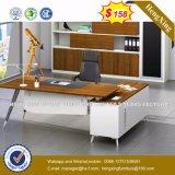 Escritorio de oficina de madera de Exeuctive del panel del metal de la plata de los muebles de oficinas (HX-8N1466)