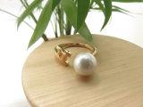 복장 여자 보석 금 반지, Stretchable 만든 진주 반지