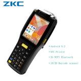 Boletos Handheld que controlan a programa de lectura del código de barras de PDA con la impresora del recibo, programa de lectura de la tarjeta inteligente de RFID