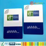 カスタムプログラム可能なISO14443A 13.56MHz MIFARE標準的な1K RFIDのホテルの鍵カード