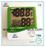 屋内携帯用LCDのクロックデジタルC/F温度計の湿度計