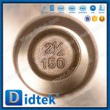 Válvula de puerta manual muy abierta del bronce de aluminio C95800 de Didtek