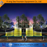 Динамический подгонянный напольный фонтан воды нот