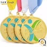 Médailles de bronze en alliage de zinc, médailles blanc, médailles bon marché de sports pour la vente en gros