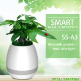 Bluetoothのスピーカー機能の植木鉢