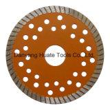 Het turbo Blad van de Zaag van de Diamant voor de Marmeren Muur van het Graniet en Baksteen, CirkelBlad Turb