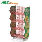 Fördernder stapelnder Draht-Korb für Supermarkt