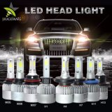 2 Three-Sided 8000lm 12V 24V極度の明るい車LEDのヘッドライトの球根H4