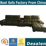 Brown-Farben-bestes Qualitätswohnzimmer-Möbel-echtes Leder-Sofa (A848-1)