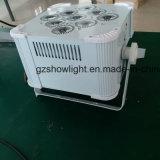 batteria ricaricabile dell'indicatore luminoso di PARITÀ di 9PCS 18W 6in1 LED ed indicatore luminoso piano senza fili di PARITÀ di DMX