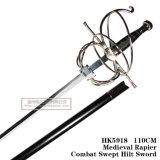 La spada Commanding spagnola Rapiercombat medioevale ha scopato la spada 110cm HK5918 dell'elsa