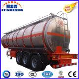 de 3-Axle 33000L del tanque acoplado de aluminio semi para el transporte del combustible